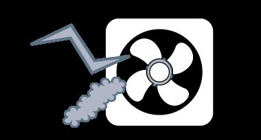 換気扇における主な修理例